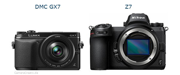 Panasonic dmc gx7 vs Nikon z7