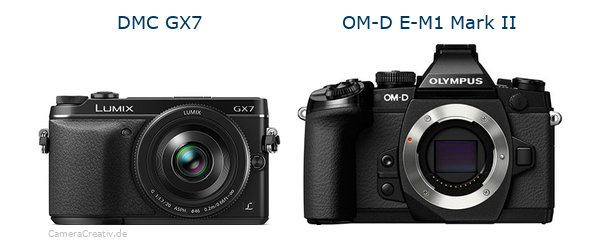 Panasonic dmc gx7 vs Olympus om d e m1 mark ii