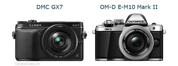 Panasonic dmc gx7 vs Olympus om d e m10 mark ii