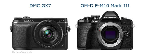 Panasonic dmc gx7 vs Olympus om d e m10 mark iii