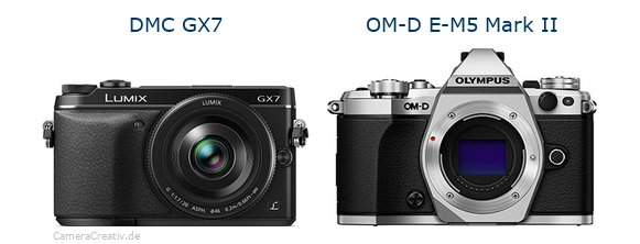 Panasonic dmc gx7 vs Olympus om d e m5 mark ii