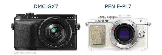 Panasonic dmc gx7 vs Olympus pen e pl7