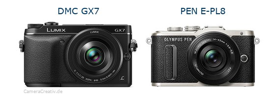 Panasonic dmc gx7 vs Olympus pen e pl8