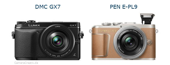 Panasonic dmc gx7 vs Olympus pen e pl9
