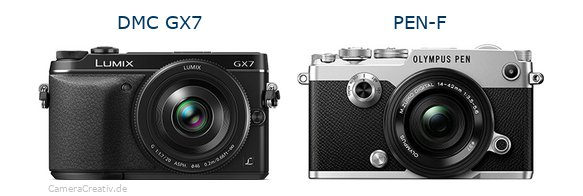 DMC GX7 vs PEN-F - Side by side