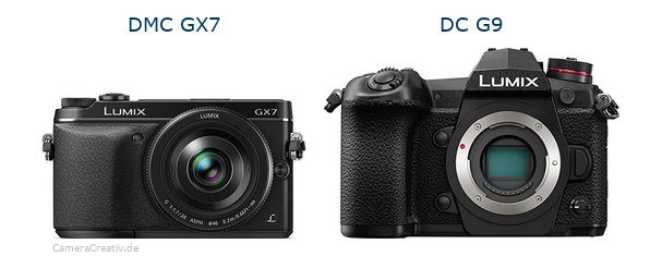 Panasonic dmc gx7 vs Panasonic dc g9