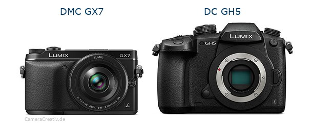 Panasonic dmc gx7 vs Panasonic dc gh 5