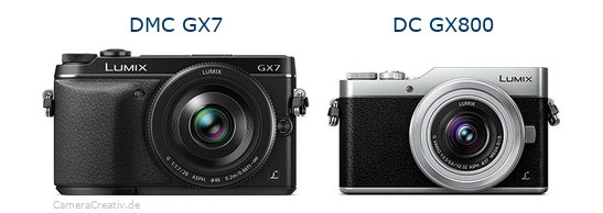 Panasonic dmc gx7 vs Panasonic dc gx 800