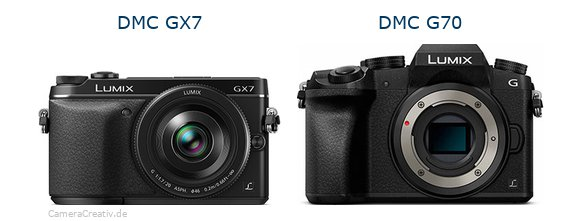Panasonic dmc gx7 vs Panasonic dmc g 70