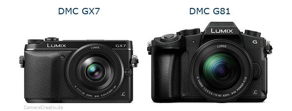 Panasonic dmc gx7 vs Panasonic dmc g 81