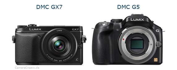 Panasonic dmc gx7 vs Panasonic dmc g5