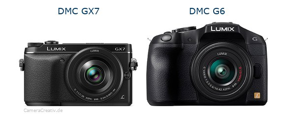 Panasonic dmc gx7 vs Panasonic dmc g6