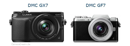 Panasonic dmc gx7 vs Panasonic dmc gf 7