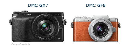 Panasonic dmc gx7 vs Panasonic dmc gf 8