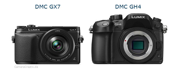 Panasonic dmc gx7 vs Panasonic dmc gh 4