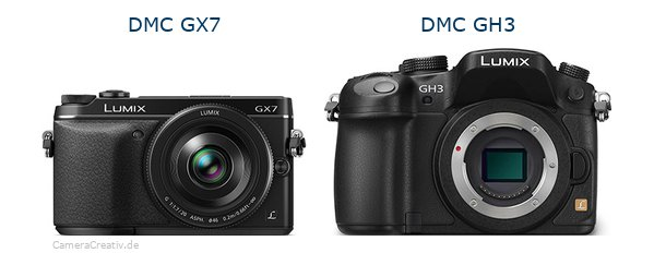 Panasonic dmc gx7 vs Panasonic dmc gh3