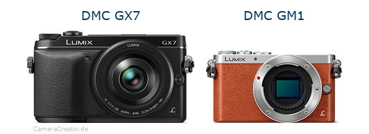 Panasonic dmc gx7 vs Panasonic dmc gm 1