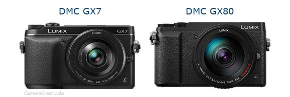 Panasonic dmc gx7 vs Panasonic dmc gx 80