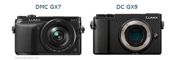 Panasonic dmc gx7 vs Panasonic lumix gx 9