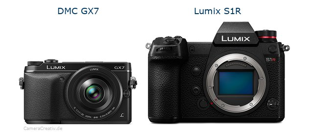 Panasonic dmc gx7 vs Panasonic lumix s1r