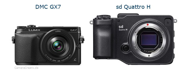 Panasonic dmc gx7 vs Sigma sd quattro h