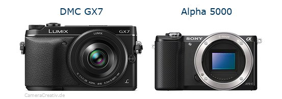 Panasonic dmc gx7 vs Sony alpha 5000