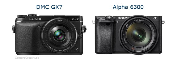 Panasonic dmc gx7 vs Sony alpha 6300