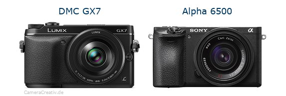 Panasonic dmc gx7 vs Sony alpha 6500
