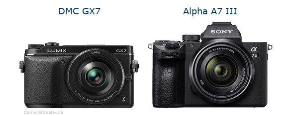 Panasonic dmc gx7 vs Sony alpha a7 iii