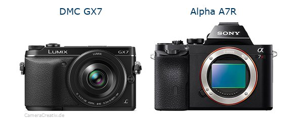 Panasonic dmc gx7 vs Sony alpha a7r