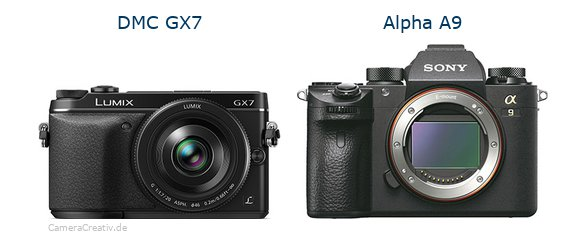 Panasonic dmc gx7 vs Sony alpha a9