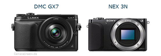 Panasonic dmc gx7 vs Sony nex 3n