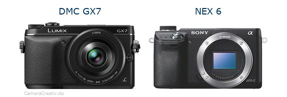 Panasonic dmc gx7 vs Sony nex 6
