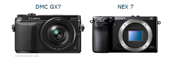 Panasonic dmc gx7 vs Sony nex 7