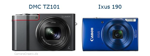 Panasonic dmc tz 101 vs Canon ixus 190