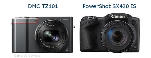 Panasonic dmc tz 101 vs Canon powershot sx420 is