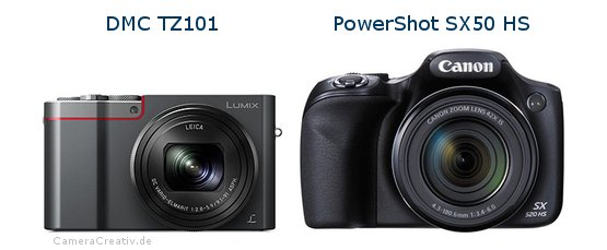 Panasonic dmc tz 101 vs Canon powershot sx50 hs