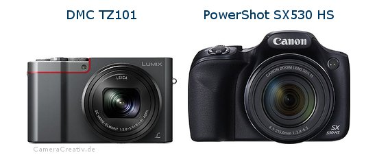 Panasonic dmc tz 101 vs Canon powershot sx530 hs
