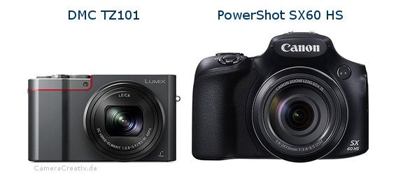 Panasonic dmc tz 101 vs Canon powershot sx60 hs