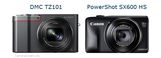 Panasonic dmc tz 101 vs Canon powershot sx600 hs