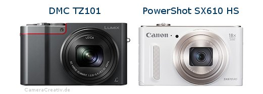 Panasonic dmc tz 101 vs Canon powershot sx610 hs