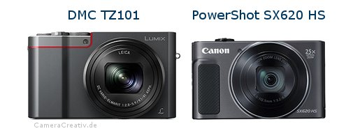 Panasonic dmc tz 101 vs Canon powershot sx620 hs