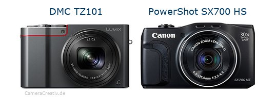 Panasonic dmc tz 101 vs Canon powershot sx700 hs