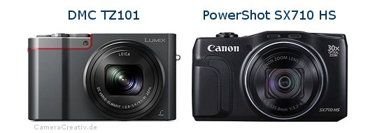 Panasonic dmc tz 101 vs Canon powershot sx710 hs