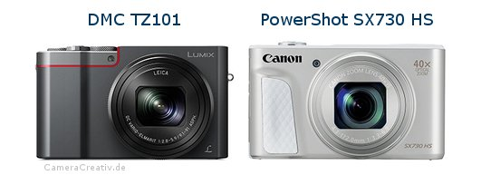Panasonic dmc tz 101 vs Canon powershot sx730 hs