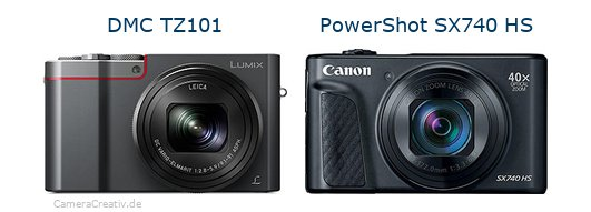 Panasonic dmc tz 101 vs Canon powershot sx740 hs