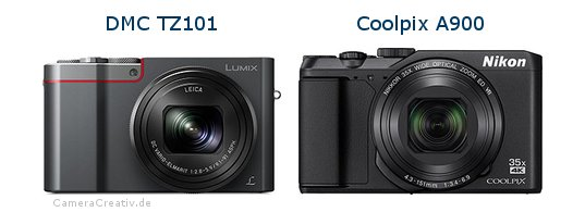 Panasonic dmc tz 101 vs Nikon coolpix a900