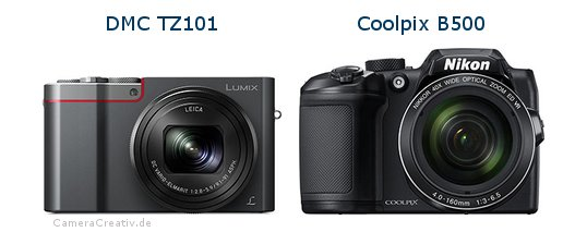 Panasonic dmc tz 101 vs Nikon coolpix b500