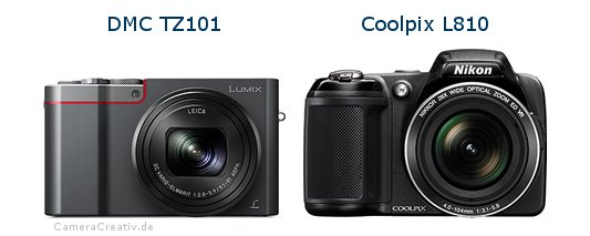 Panasonic dmc tz 101 vs Nikon coolpix l810