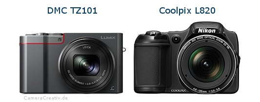 Panasonic dmc tz 101 vs Nikon coolpix l820